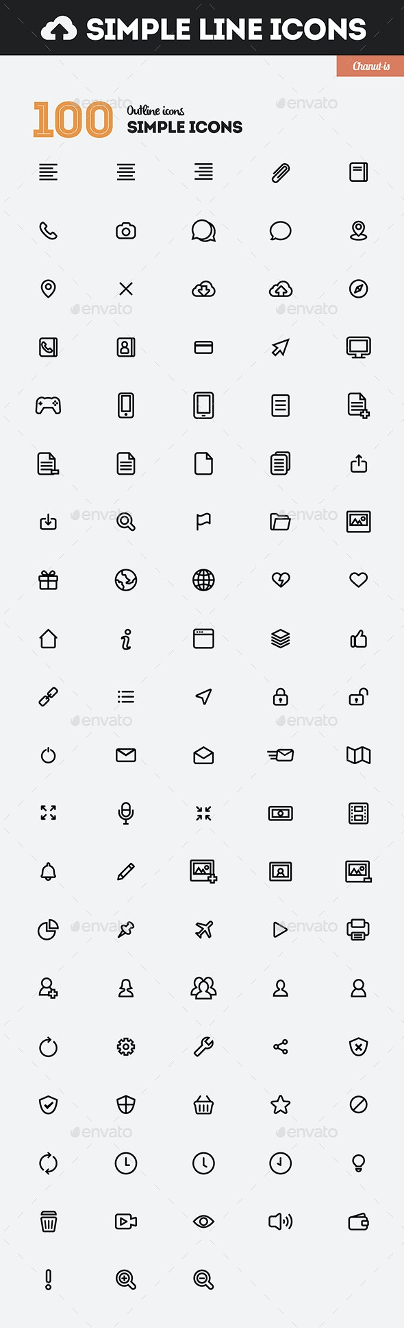 300 Simple Line & Solid Icons Pack - Icons
