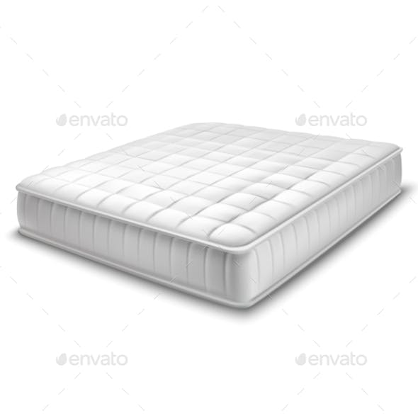 Double Mattress in Realistic Style