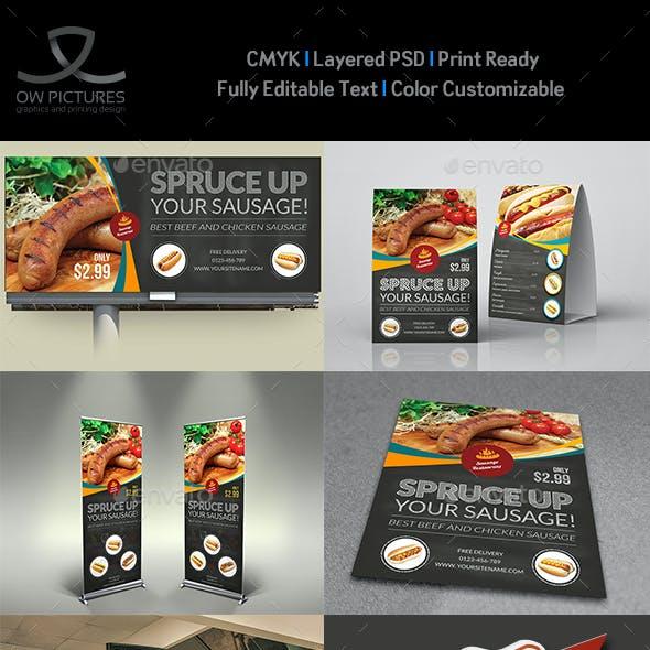 Sausage Restaurant Advertising Bundle