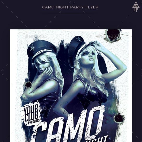 Camo Night Party Flyer