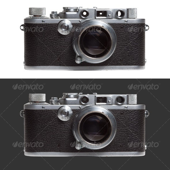 Old compact camera - Technology Isolated Objects