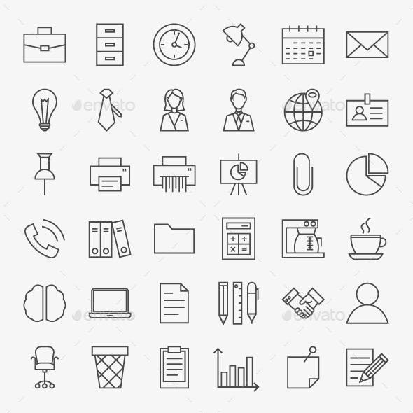 Office Vector Line Icons
