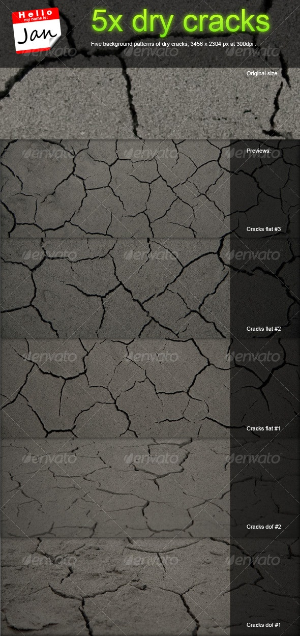 5x dry cracks background patterns - Stone Textures