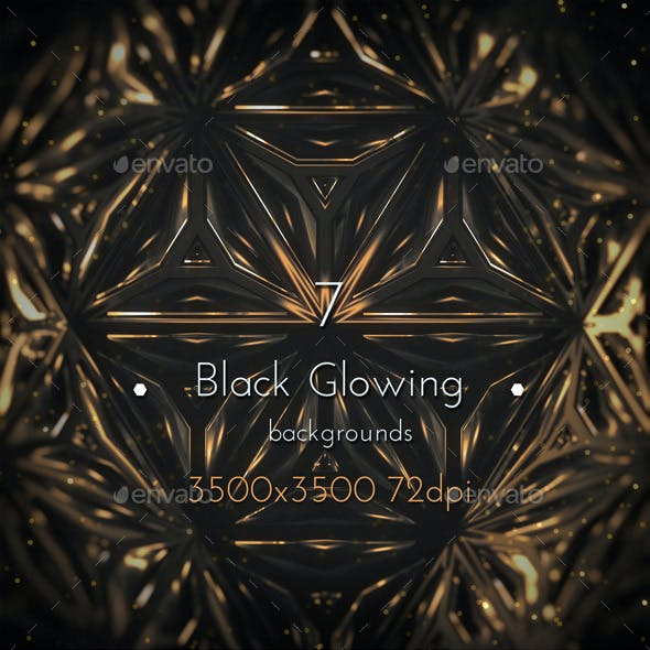 Black Glowing Fantasy Background