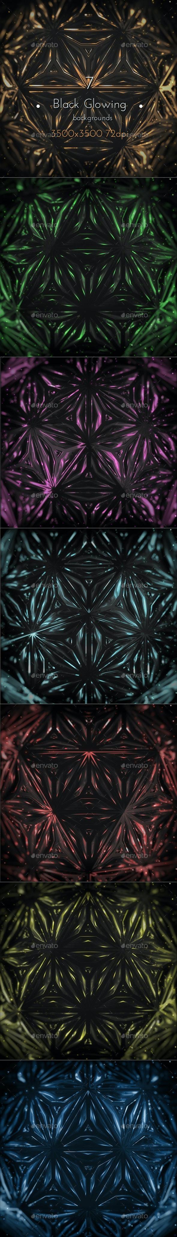 Black Glowing Fantasy Background - Tech / Futuristic Backgrounds