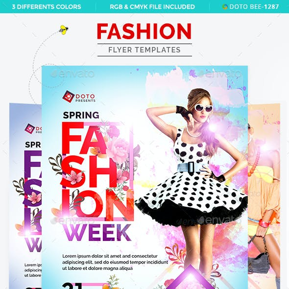 Fashion Flyer Templates - 3 Color Variations