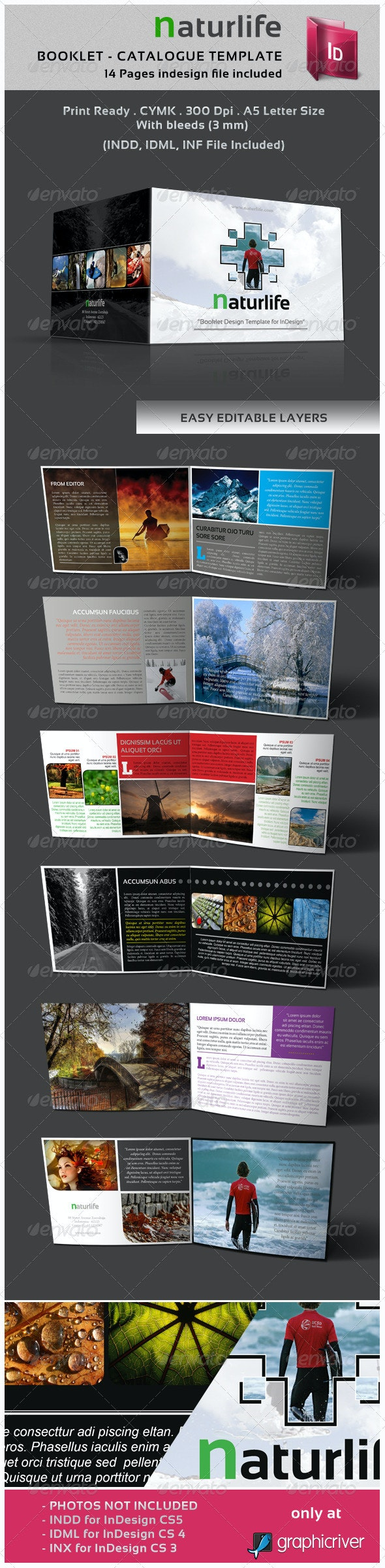 Natulife Booklet - Catalogue Template - Corporate Brochures