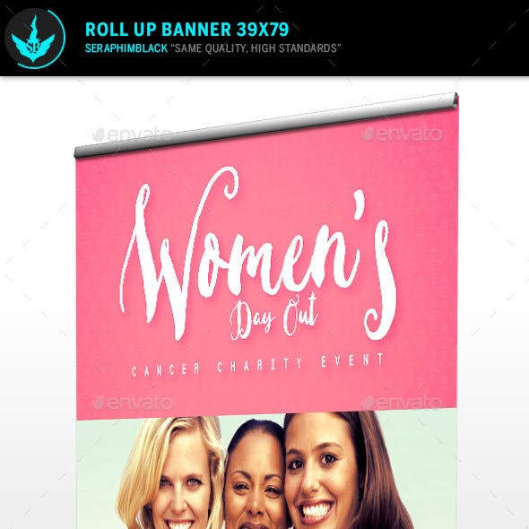 Women's Day out Roll up  Banner Template