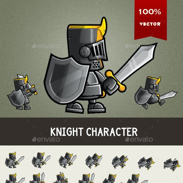 Knight Game Character Spritesheet