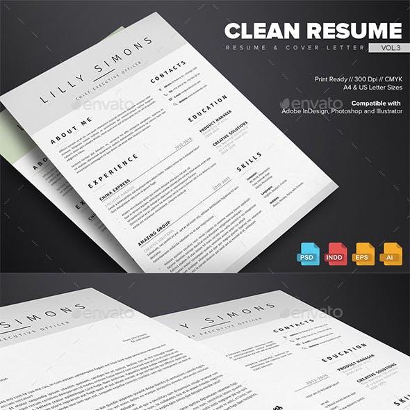 Clean Resume Vol.3