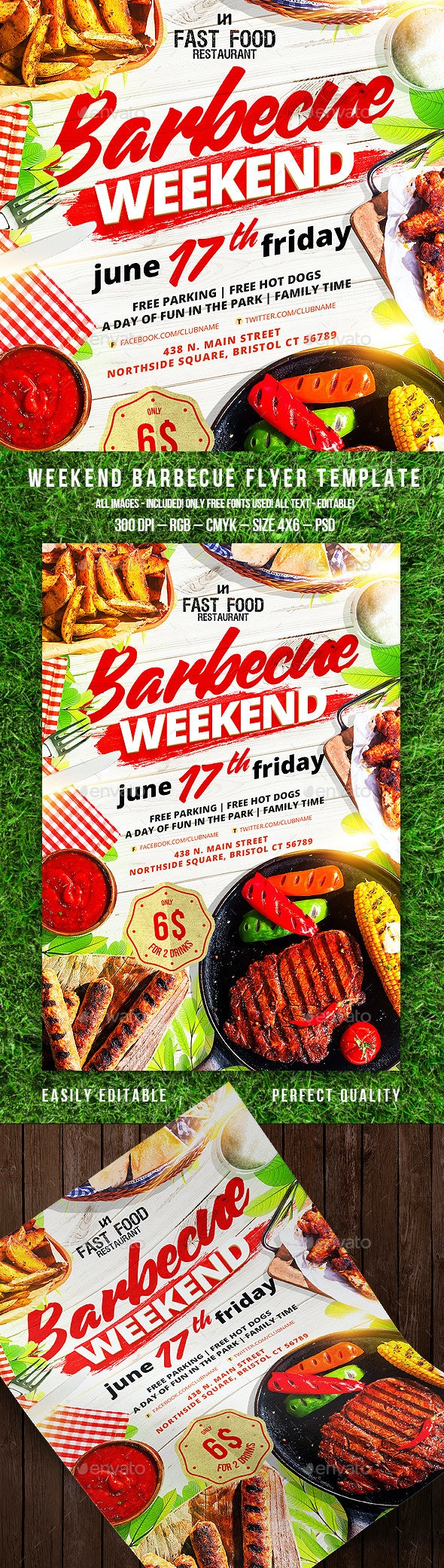 Barbecue Flyer - Clubs & Parties Events