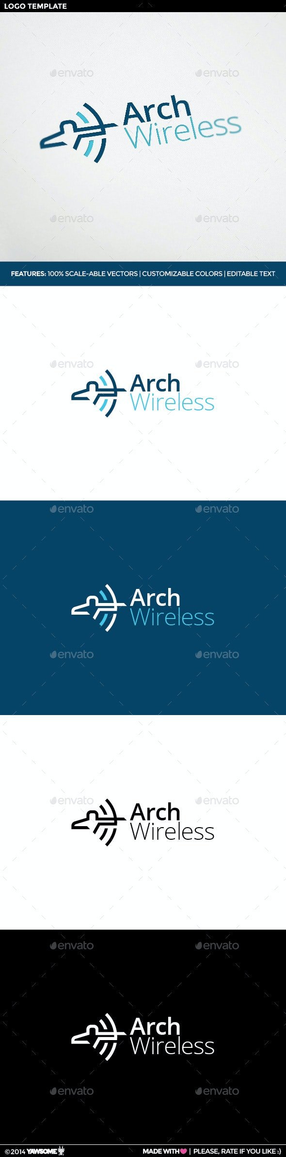 Arch Wireless Logo - Logo Templates