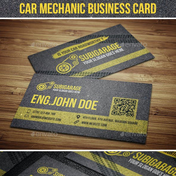 Car Mechanic Business Card