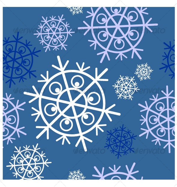 Seamless ornament snowflake  in color  34 - Backgrounds Decorative