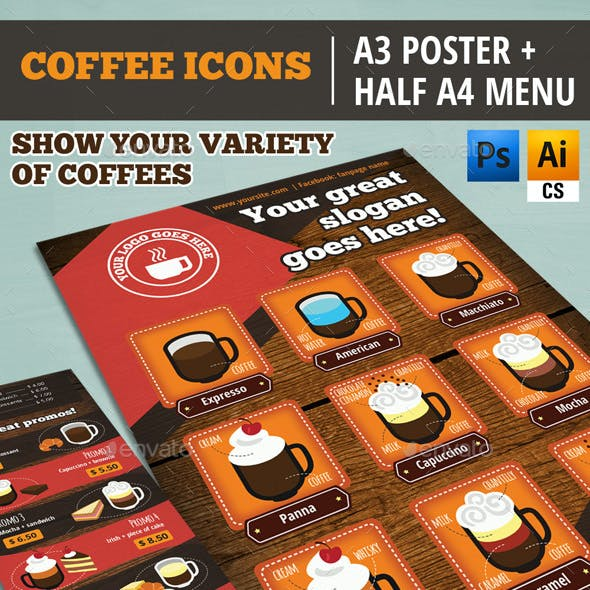 COFFEE MENU & POSTER: Build Your Own Coffees