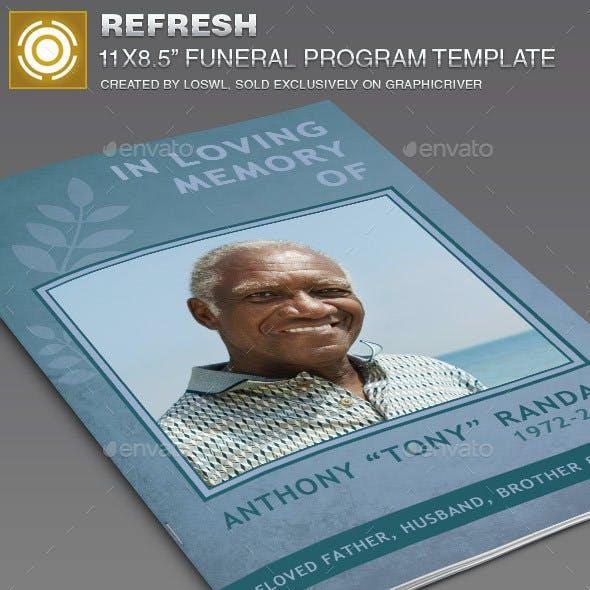 Refresh Funeral Program Template