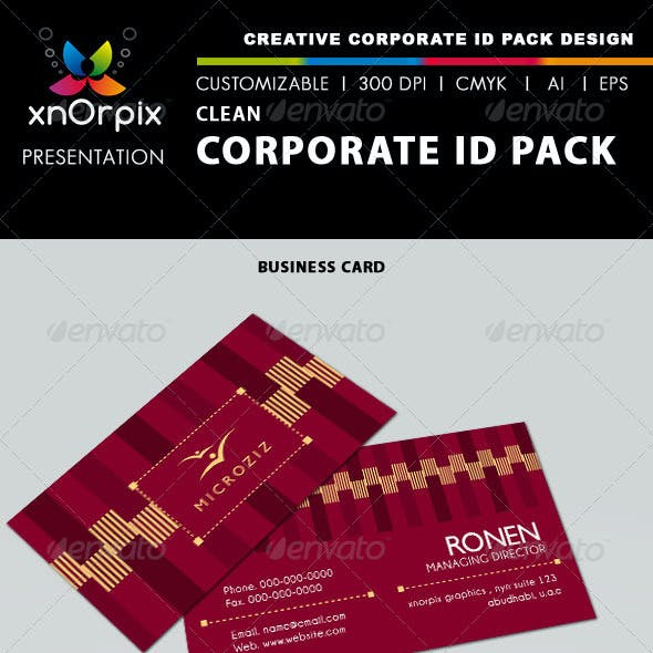 Clean Corporate ID Pack