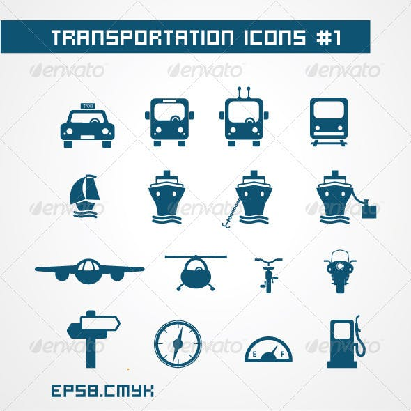 Tranportation icons