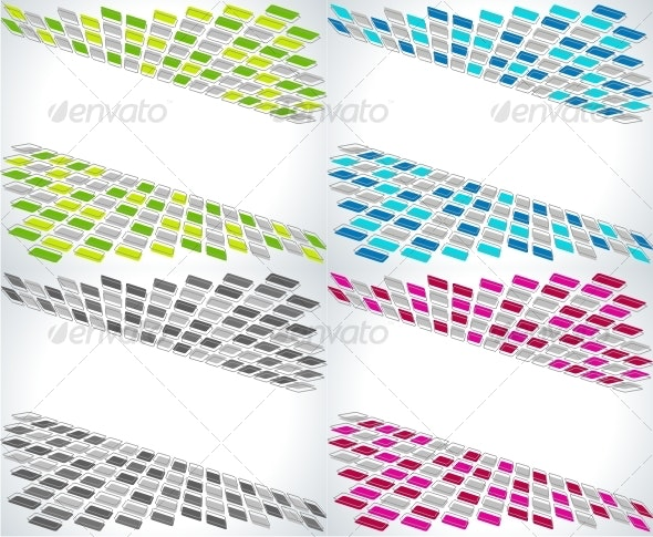 Set of four business abstract backgrounds. - Backgrounds Decorative