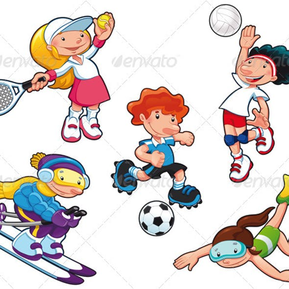 Sport characters.