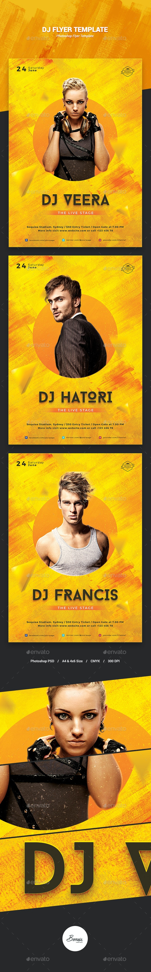 DJ Flyer Template - Concerts Events
