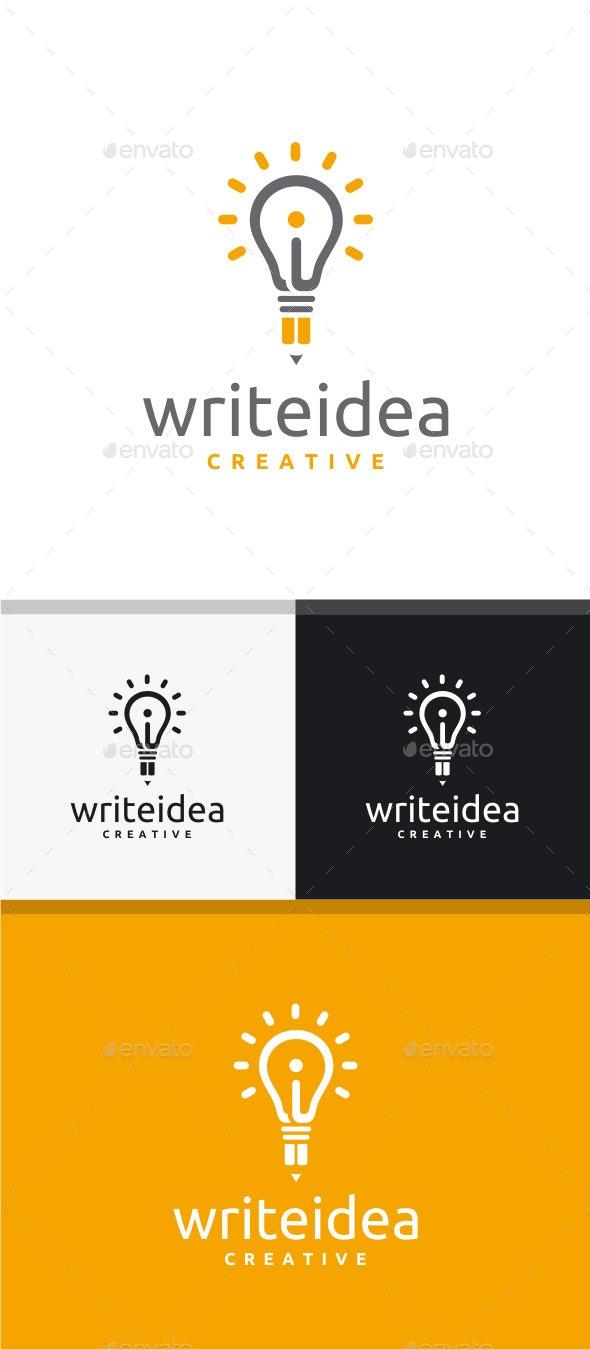 Write Idea Logo - Symbols Logo Templates