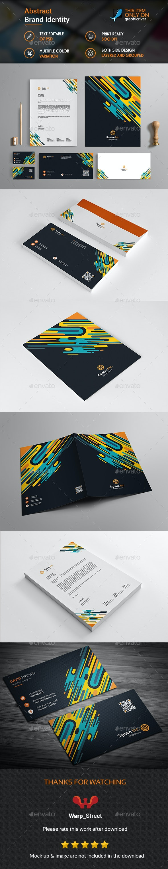 Abstract Brand Identity Design - Stationery Print Templates