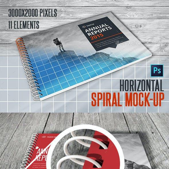 Spiral Horizontal Mockup A4