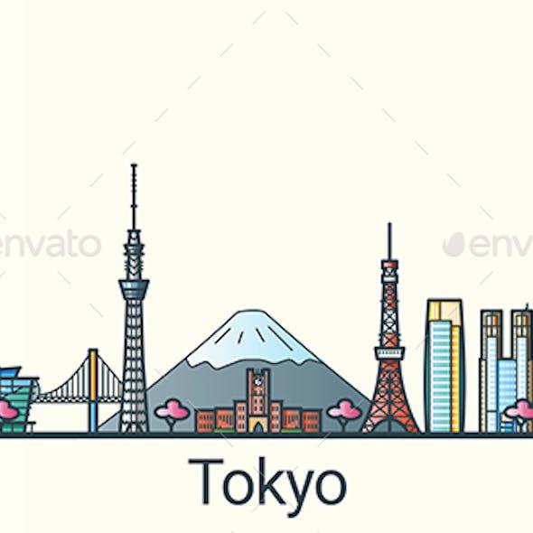 Line Flat Tokyo Banner