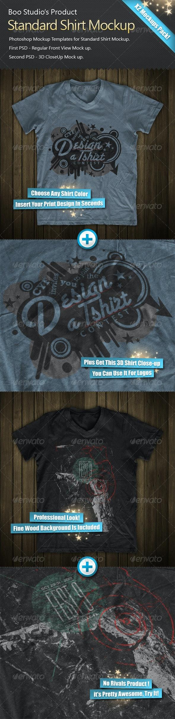 3D T-Shirt Mock-Up - T-shirts Apparel