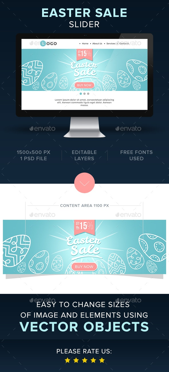 Easter Sale Slider - Sliders & Features Web Elements