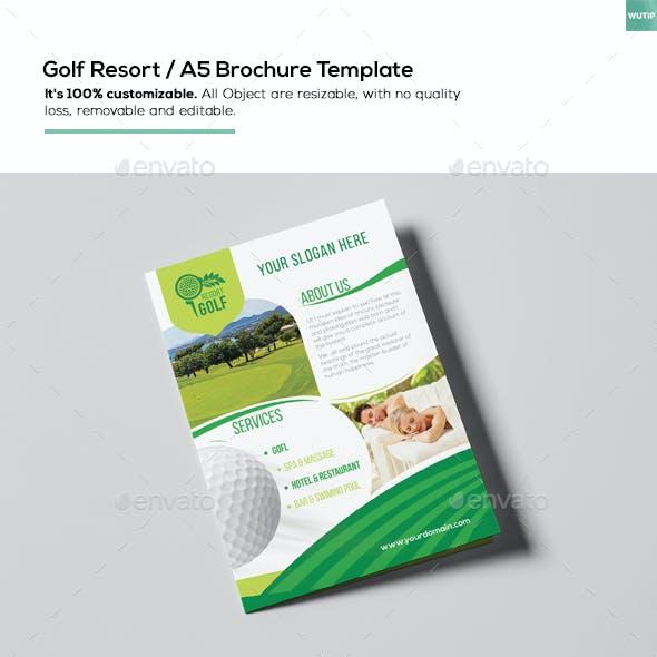 Golf Resort/ A5 Brochure Template