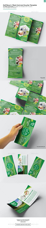 Golf Resort / Rack Card and Voucher Template - Miscellaneous Print Templates