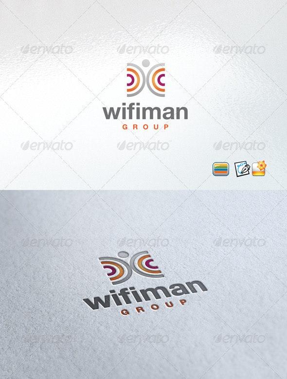 Wifiman - Humans Logo Templates