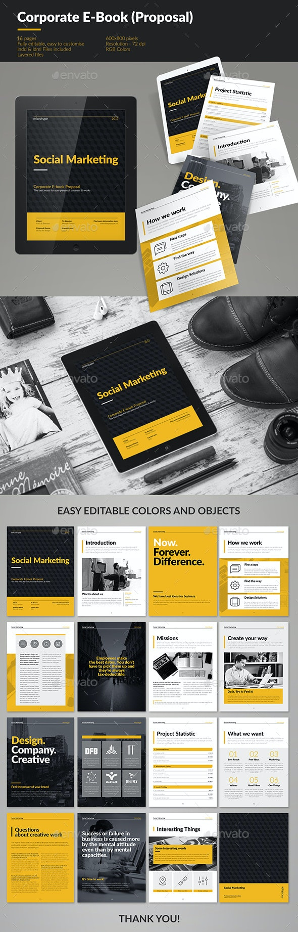 Corporate E-book Template - Digital Magazines ePublishing