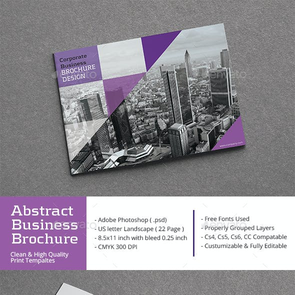 Clean Abstract Business Brochure