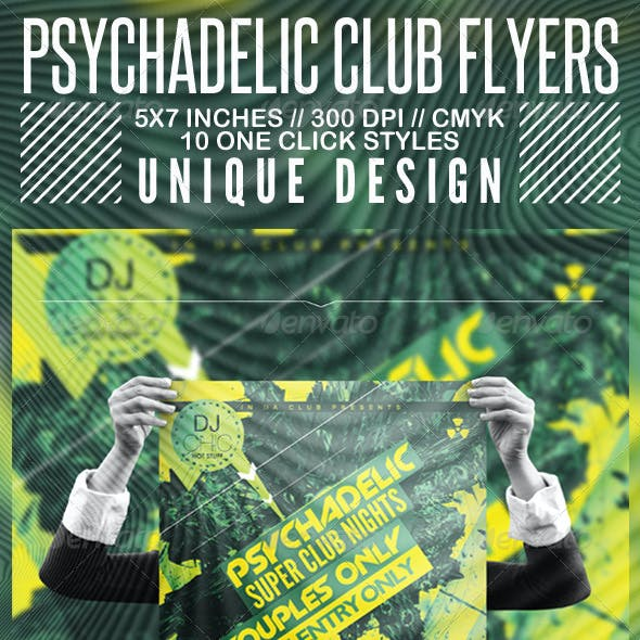 Psychedelic Club Flyer