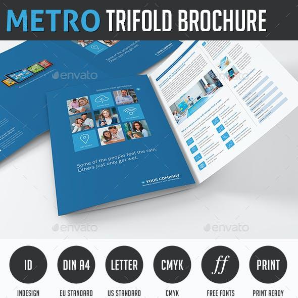 Metro Tri-fold Image Brochure