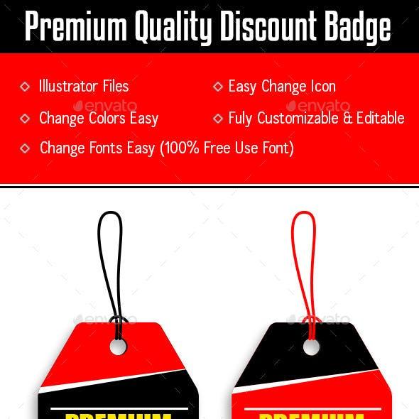 Premium Quality Discount Tag