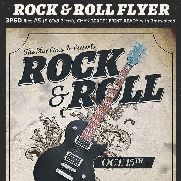 Rock & Roll Flyer Template
