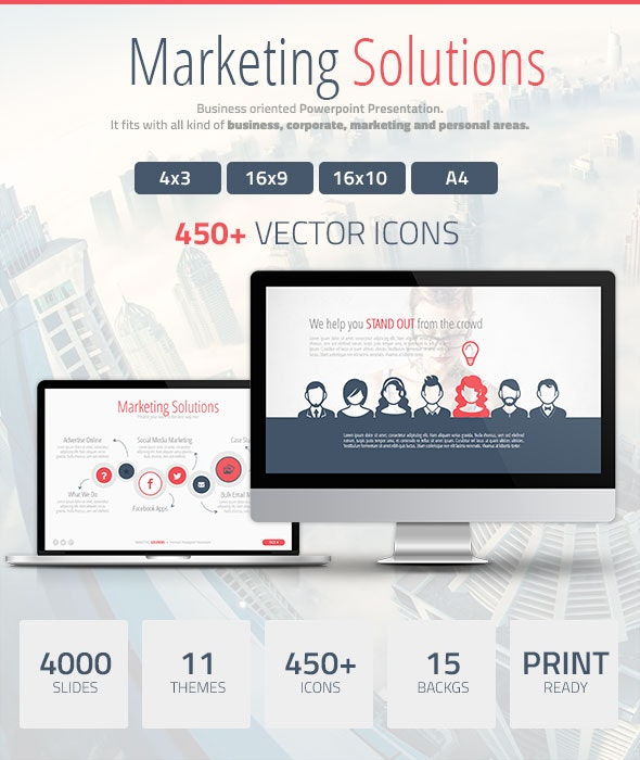 Marketing Solutions Powerpoint Presentation - PowerPoint Templates Presentation Templates