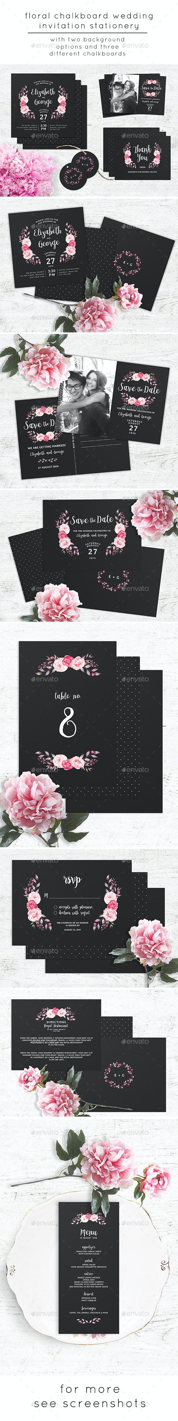 Chalkboard Wedding Invitation Stationery - Weddings Cards & Invites