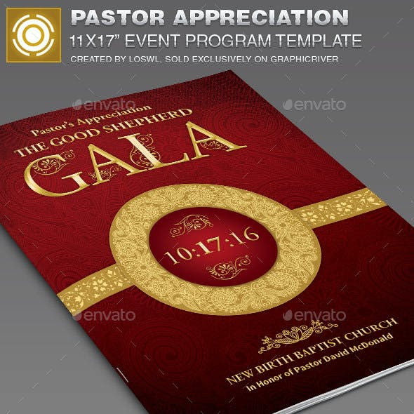 Pastor Appreciation Event Program Template