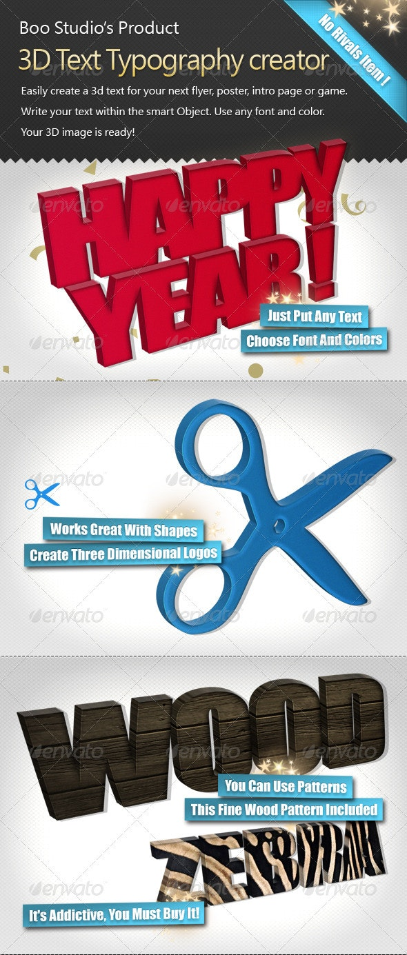 3D Text Typography Creator  - Miscellaneous Graphics