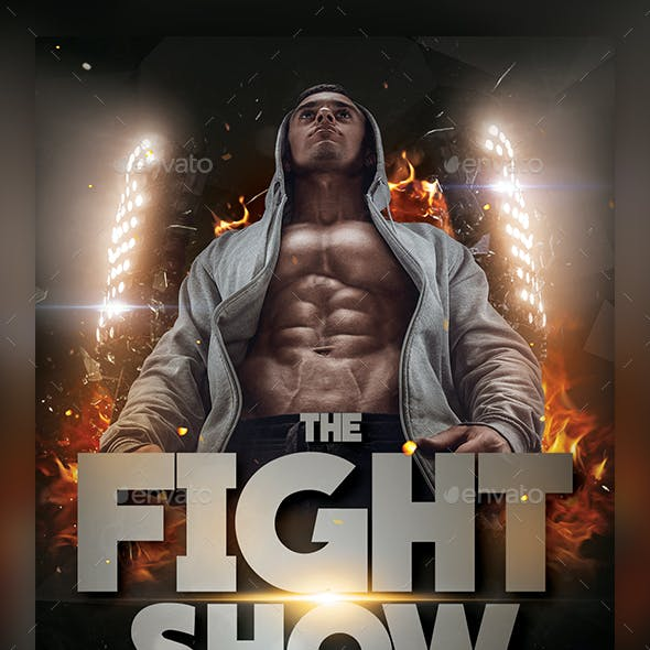 Fight Show Flyer Template