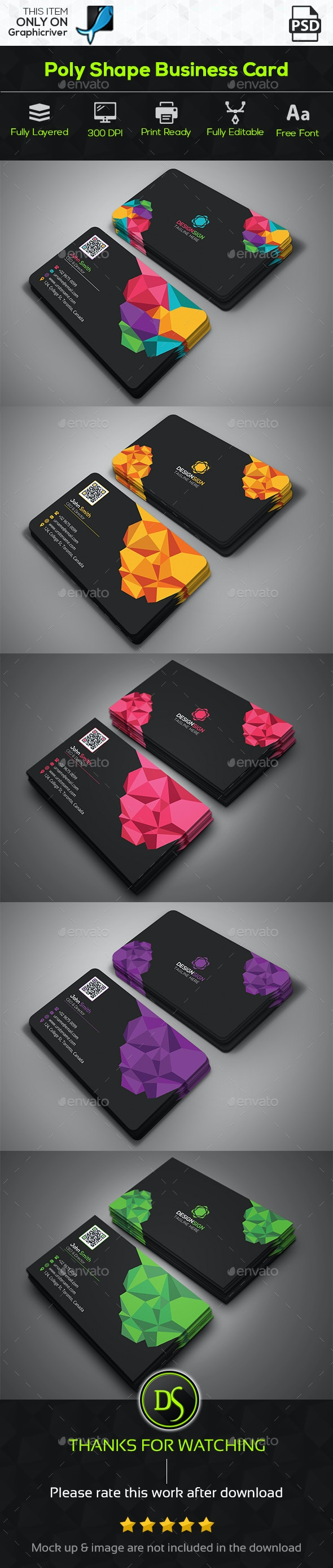 Poly Shape Business Card - Creative Business Cards