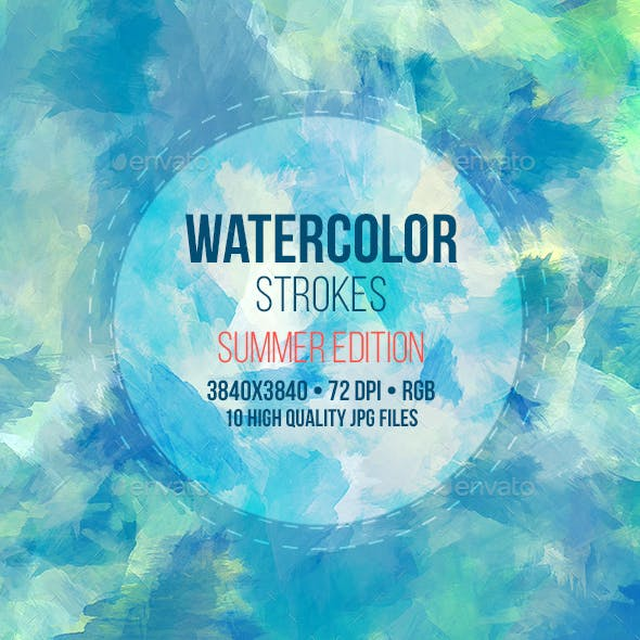 Watercolor Backgrounds Summer Edition