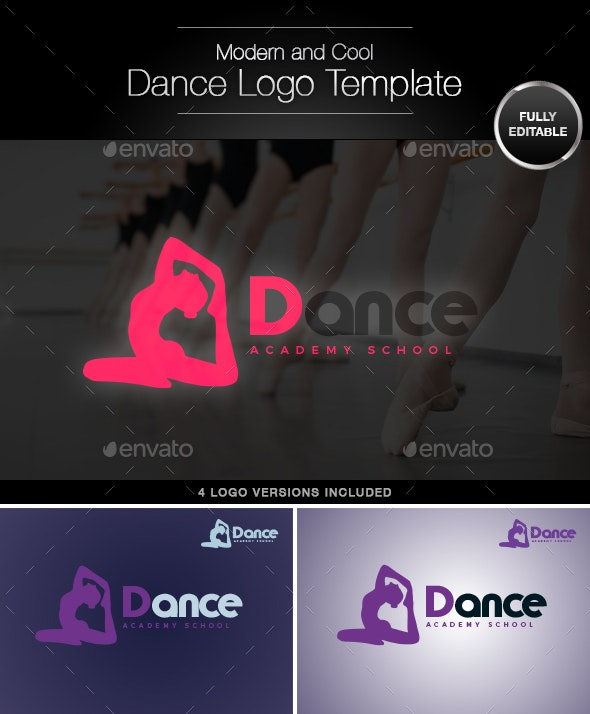 Dance and Fitness Vector Logo Template - Humans Logo Templates
