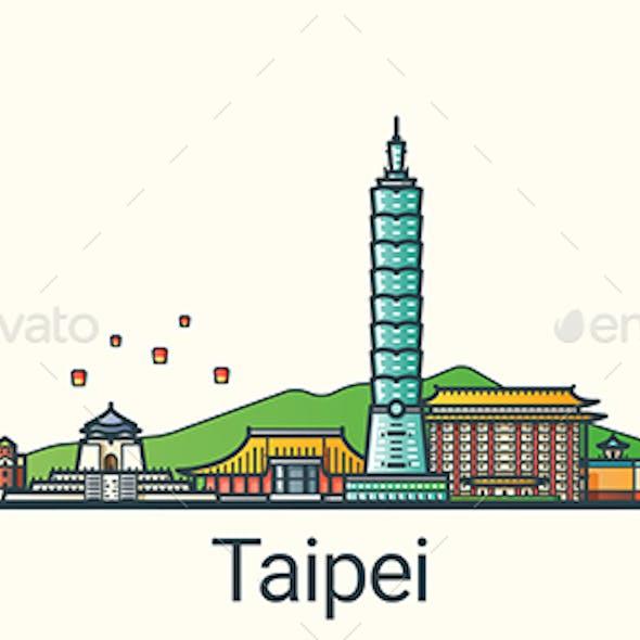 Line Flat Taipei Banner