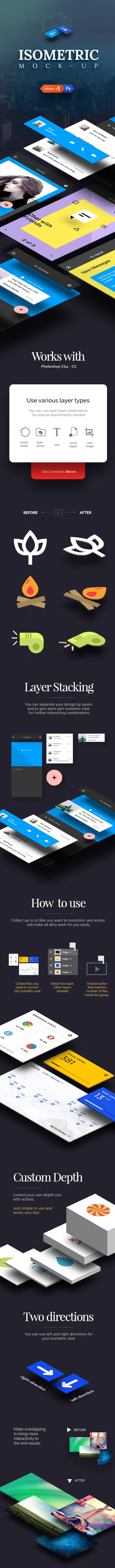 Isometric Mock-UP Actions - Photo Effects Actions